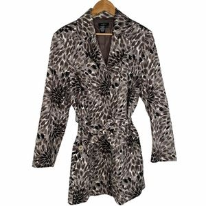 Julie Mitchell Women's Belted Short Trench Coat 1X